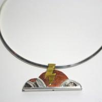 Art Deco Cloud Necklace by Amanda Crago of Bowerbird Jewellery