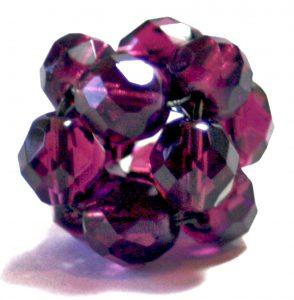 purple beaded RAW bead